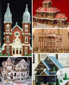 Gingerbread houses to the extreme...:)