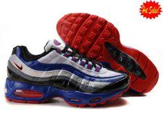 Nike Air Max 95 Shoes Mens Blue White Black Red 2014 CMAL 354664