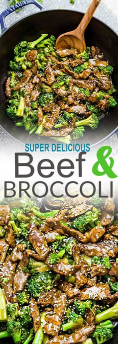 This Skinny Beef and Broccoli Stir-Fry makes the perfect easy weeknight dish full of authentic flavors. Best of all, it's so easy to make and is way better and healthier than your favorite Chinese takeout restaurant. Great for meal prep Sunday and leftovers can be used for work or school lunch bowls!
