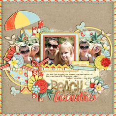 Cindy's Layered Templates - Set 103 by Cindy Schneider   Hello Sunshine by Dani Mogstad  Some Elements from Aloha by Dani Mogstad  Paper Branch - Kristin CB  Sand - Lliella Designs  Kraft paper - Jenn Barrette  Paint Strokes - Heather Roselli  Stitching - Traci Reed  Font - DJB Carly Sue Got Married   Extras -  Greenery (recolored) - Kay Miller