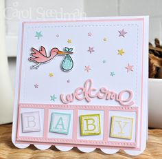 Inky Fingers: Paper Smooches and Avery Elle New Baby Card