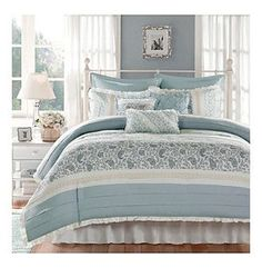 Pottery Barn White Coverlet And Bird Bedding Home