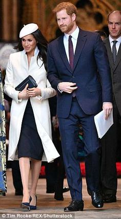 The groom-to-be sporting his favourite look at the Commonwealth Day observance service in . Prince Harry And Megan, Harry And Meghan, The Dutchess, Dark Blue Suit, On Repeat, Commonwealth, Archie, Groom, Suits
