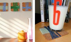 Bulletin Board Coasters (double duty items are key in small spaces!)