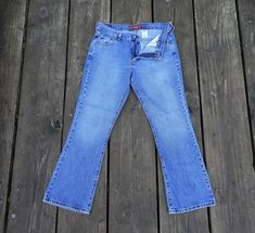 Vintage 1990's Guess Jeans USA Navy Canvas Sneaker Boots Sz.7.5