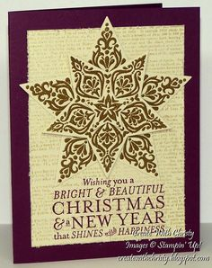 Stampin' Up! Bright & Beautiful and Definition - Create With Christy - Christy Fulk, Stampin' Up! Demo