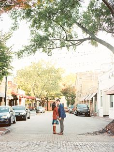 Kylie and Daniel Downtown Raleigh Film Engagement Session   Nancy Ray Photography   Photographer: Callie Davis