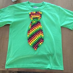 100 day of school shirt the skittle tie