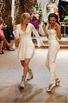 """Santana and Brittany's wedding from FOX's 2009 TV show, """"Glee"""""""