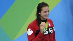 After not winning an Olympic medal in 20 years, the Canadian women's swimming team now has three in three days at Rio the latest courtesy of Kylie Masse in the backstroke. Olympic Medals, Olympic Sports, Olympic Team, Rio Olympics 2016, Summer Olympics, Canada, Winter Games, Rio 2016, Is 11