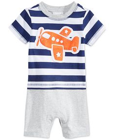 First Impressions Baby Boy's Airplane Sunsuit, Only at Macy's - All Baby - Kids & Baby - Macy's