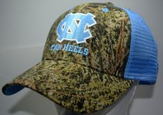 the latest f8d3c d0d4d Details about North Carolina Tar Heels UNC  47 Brand Clean Up RealTree Camo  Adjustable Hat Cap