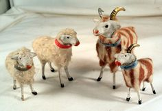 §§§ : antique spun cotton animals :   http://www.collectorsweekly.com/christmas/overview