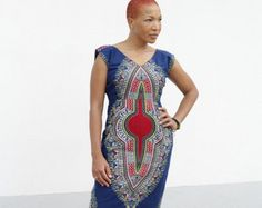 Angelina Pencil Dress/ African dress / wax print by AdinkraExpo