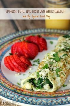 Spinach, Feta and Herb Eggwhite Omelet