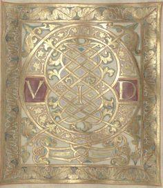 Bibliothèque nationale de France, Latin 1152 f. 55r. Psalterium Caroli Calvi [Psautier de Charles le Chauve] 842-869.