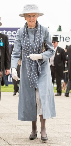 Princess Alexandra, Lady Ogilvy arrives at The Investec Derby Festival at Epsom Racecourse on June 4, 2016 in Epsom, England.