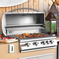 Blaze 32-Inch 4-Burner Built-In Natural Gas Grill With Rear Infrared Burner - BLZ-4-NG