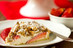 Strawberry Cream Cheese Crumble Tart