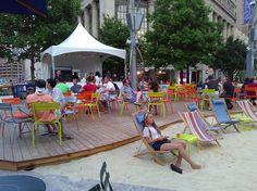 This is DETROIT - Beach Bar in Campus Martius