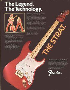 Fender - The Strat ads