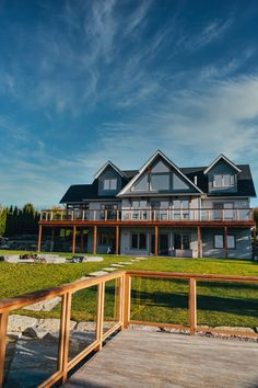 Linwood Homes, Lakeside View, Natural Landscaping, Luxury Estate, Post And Beam, Boathouse, Estate Homes, Custom Homes, House Plans