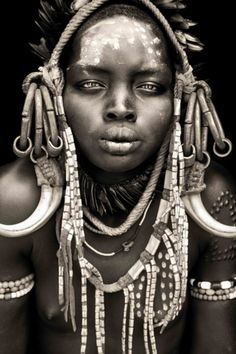 *mursi girl from mago / omo valley.  Photo taken by Mario Gerth