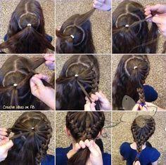 hair tutorial for braids! Princess Hairstyles, Little Girl Hairstyles, Pretty Hairstyles, Braided Hairstyles, Kids Hairstyle, Hairstyle Ideas, Hair Ideas, Hairdos, Pigtail Hairstyle