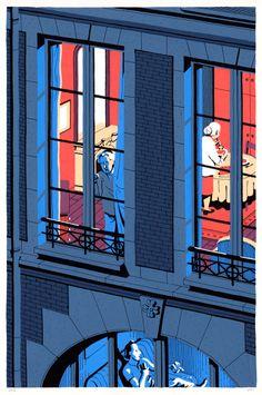 Paris, Architecture, nuit, voisins