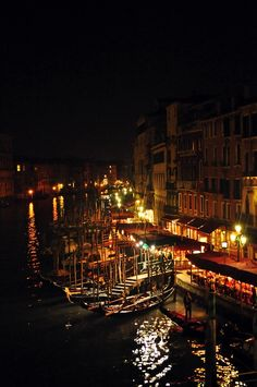 A magical night in Venice, Italy