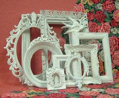 Picture Frames - 'Shabby Chic Picture Frames Vintage Set' robyno