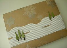 homework: winter wrapping #giftwrap #diy