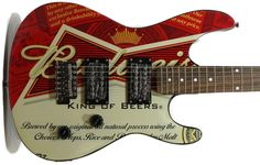 BRAND NEW BUDWEISER ELECTRIC GUITAR IN ORIGINAL BOX - 7/8 SIZE - FREE SHIPPING…