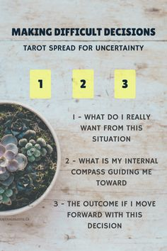 Making difficult decisions Tarot Card Spread oracle Cards Divination Layout