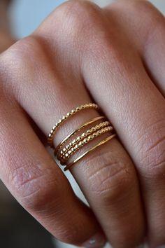 SPOTTY RING | GOLD