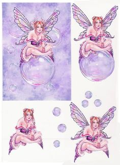 PK 2 FROSTY FAIRY BIRTHDAY WISHES EMBELLISHMENT TOPPERS FOR CARDS OR CRAFTS