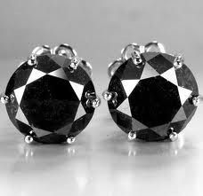2.20 Ct. Natural Black Diamond Earring