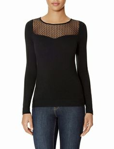 Mesh Yoke Sweater from THELIMITED.com Seriously, I have to have this.
