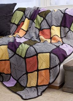 Free Pattern for Tiffany Glass Afghan