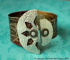 starry starry night.... gypsy cuff with only by ChristinesCabinet, $72.00