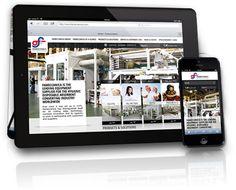 Per la presentazione del nuovo layout web di Fameccanica WOOI® realizza i leaflet a due ante dall'originale forma iPad/iPhone.