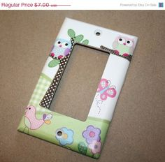 SALE Pink and Purple Owls Girls Bedroom Single by ToadAndLily, $5.60