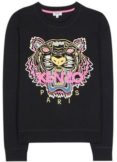 efe4e849 Kenzo Embroidered Cotton Sweater Sweat Shirt, Funky Outfits, Cotton Sweater,  White Denim,