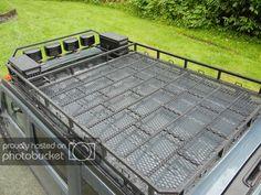 Custom roof rack build - WeldingWeb™ - Welding forum for pros and enthusiasts Van Roof Racks, Truck Roof Rack, Mitsubishi Pajero, Kombi Motorhome, Suv Camper, Sprinter Camper, Offroad, Toyota Sequioa, Roof Basket