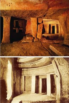 The Hypogeum in Hal-Saflieni, Paola, Malta, is a subterranean structure dating to the Saflieni phase in Maltese prehistory. Thought to be originally a sanctuary, it became a necropolis in prehistoric times. - http://www.oddee.com/item_96666.aspx