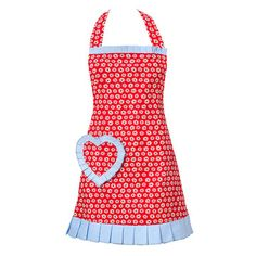 Daisy Du Jour Apron Red, 30€, now featured on Fab.