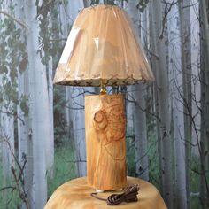 ASPEN LOG LAMP by logtreasures on Etsy, $45.00