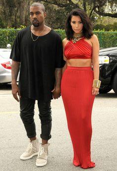 Kim and Kanye Roc Nation Pre - Grammy brunch