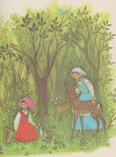 Snow White and Rose Red - by the Brothers Grimm, illustrated by Adrienne Adams (1964).
