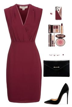 """""""Sin título #4233"""" by mdmsb on Polyvore featuring moda, Burberry, Christian Louboutin, M2Malletier, Fantasia by DeSerio, Charlotte Tilbury y Casetify"""